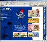 Sito web Gruppo Data Medica, vecchia versione.