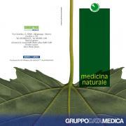 Depliant informativo sulla medicina naturale, copertina.