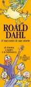 Depliant locandina per una rassegna culturale per bambini su Roald Dahl